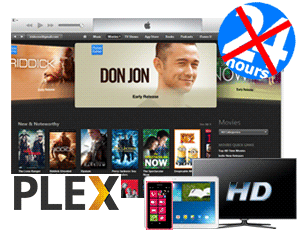 stream itunes movies via plex